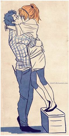Couple Character Drawing Illustration- I'm gonna assume this is Harry and Ginny Couple Sketch, Cute Couple Drawings, Love Drawings, Couple Art, Tall Boy Short Girl, Short Girls, Manga Drawing, Person Drawing, Boy Drawing
