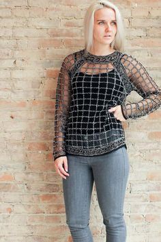 City Nights Beaded Top - Black #affordable #affordable-glitzy-top #affordable-sequin-top