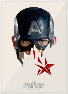 An alternative movie poster for the film Captain America: The Winter Soldier, created by Simon Delart, featured on AMP. Marvel Art, Marvel Dc Comics, Marvel Heroes, Marvel Avengers, Marvel Captain America, Captain America Tattoo, Captain America Poster, Famous Superheroes, Fan Poster