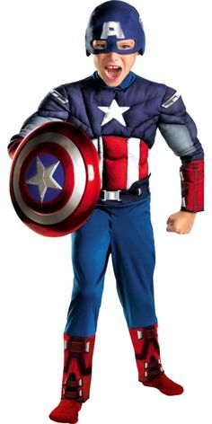 Avengers Captain America Costume for Toddler Boys - Party City