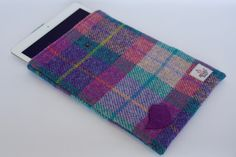 Harris Tweed & Liberty of London iPad Cover by CarberryCrafts on Etsy https://www.etsy.com/uk/listing/557637980/harris-tweed-liberty-of-london-ipad