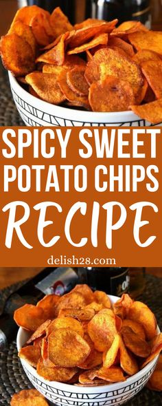 SPICY SWEET POTATO CHIPS RECIPE – AIR FRYER