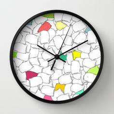 Pillows Pattern Wall Clock by adrijenroman Buy Pillows, Wall Patterns, Roman, Clock, Decor, Watch, Decoration, Clocks, Decorating