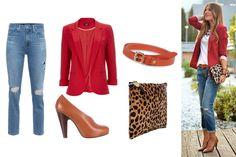 Resultado de imagen para jean y blusa roja