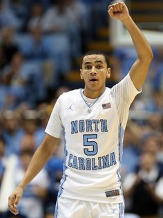 Marcus Paige #5 of the North Carolina Tar Heels calls a play to his teammates during their game against the UNLV Rebels at Dean Smith Center on December 29, 2012
