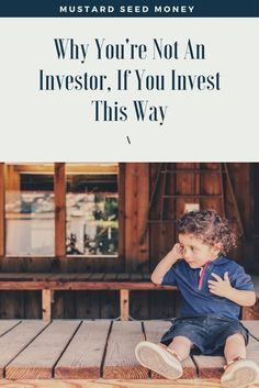 Read why some people believe people who passively invest, like me, aren't actually investors at all. Of course, I wholeheartedly disagree. Read why.