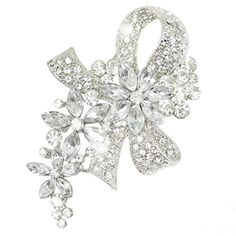 EVER FAITH Wedding Silver-Tone Bowknot Flower Clear Austrian Crystal Brooch N01521-1 EVER FAITH http://www.amazon.com/dp/B00EM3Y6ME/ref=cm_sw_r_pi_dp_5O7Gub0B1XTVX