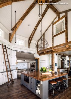 Wooden beams wow in 4 rustic kitchens