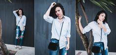 6 formas de usar a blusa social do namorado - Leuxclair