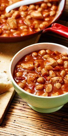Chili mal anders: eine tolle Variante mit Kichererbsen, weißen Bohnen und…