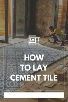 Make sure your cement tiles are placed perfectly the first time around! Take a look at this how-to guide. #howto #remodel #concretetiles