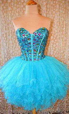 AHC169 New Arrival Strapless Sweetheart Neck Beaded Bodice Homecoming Dress