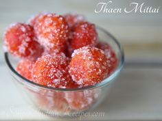 Thaen Mittai - A humble sweet sold in small roadside shops during the last few decades. These almost became extinct and is now coming back in bigger shops. Orange Food Coloring, Oil For Deep Frying, Indian Sweets, Temples, Indian Food Recipes, Baking Soda, Balls, Raspberry, Shops