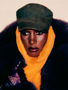 "lelaid: "" Grace Jones by Andy Warhol, 1984 """