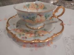 GERMANY BAVARIA HUTSCHENREUTHER Selb Teacup and by TheFiveCrowns