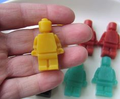 Kids Soap  Action Figure Mini Men  Glycerin by SunbasilgardenSoap, $5.75..  love these!!!!