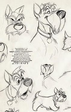 """Living Lines Library: Lady and the Tramp - Character Design > Model Sheet. - Model Sheet…""""> Living Lines Library: Lady and the Tramp – Character Design > Model She - Drawing Cartoon Characters, Cartoon Drawings, Art Drawings, Drawing Faces, Cartoon Illustrations, Animation Sketches, Drawing Sketches, Drawing Ideas, Disney Sketches"""