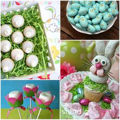 Easter food made of marshmallows