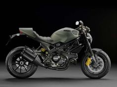 "Ducati Monster Diesel - ""The Beast"" military-style, With olive green paint and matte black highlights impressive, Ducati Monster Diesel is known as military vehicles."