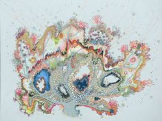 Coral, embroidery by Louise Gardiner
