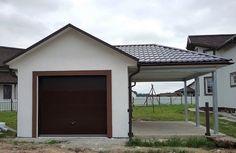 ГАРАЖ 3,6 Х 8,4 М. ОШТУКАТУРЕННЫЙ, С НАВЕСОМ  http://www.metgar.ru/projects/proekty-garazhey/3-8-m-shtukaturka/