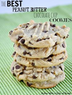 The BEST Peanut Butter Chocolate Chip Cookies EVER.