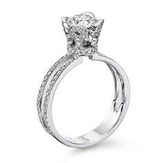 Diamond Engagement Ring in 18K Gold / White GIA Certified, Round, 1.55 Carat, F Color, VS1 Clarity - http://www.sofiasluxuryjewelry.com/jewelry/wedding-anniversary/engagement-rings/diamond-engagement-ring-in-18k-gold-white-gia-certified-round-155-carat-f-color-vs1-clarity-com/