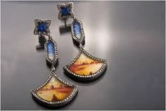 Sevan Bicakci earrings hand-crafted from white and colored diamond studs, ...