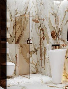 """Olympic Park"" for Soffit Interiors on Behance Bathroom Colors, Bathroom Sets, Modern Bathroom, Small Bathroom, Master Bathroom, Marble Bathrooms, Dream Bathrooms, Bad Styling, Tadelakt"