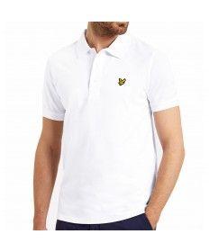Mens Lyle & Scott White Short Sleeve Polo Shirt