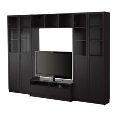 BILLY Bookcase combination with TV bench IKEA