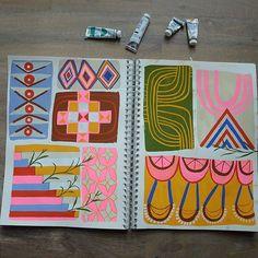 by anisamakhoul Artist Sketchbook, Sketchbook Pages, Art Journal Pages, Art Journals, Visual Journals, Sketchbook Ideas, Journal Ideas, Collages, Collage Art