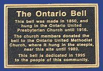 Celebrate the Ontario Bell - cast bronze plaque by Erie Landmark Company a division of Paul W. Zimmerman Foundries celebrating 75 years of plaques!   Find us on the web at www.erielandmark.com or place an order at info@erielandmark.com.