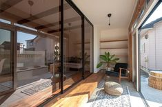 Terrace, Divider, Glass, Room, House, Furniture, Japanese, Home Decor, Balcony