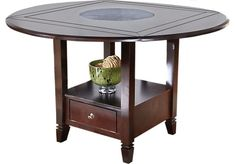 Landon Chocolate Round Counter Height Dining Table. $499.99. 60x60 w/Lazy Susan. Find affordable Dining Tables for your home that will complement the rest of your furniture.