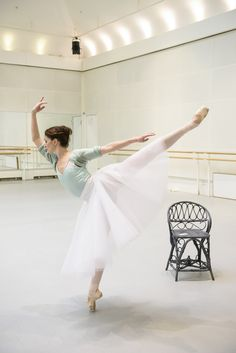 Lauren Cuthbertson as the Young Girl in rehearsal for The Two Pigeons, The Royal Ballet © 2015 ROH. Photograph by Bill Cooper |