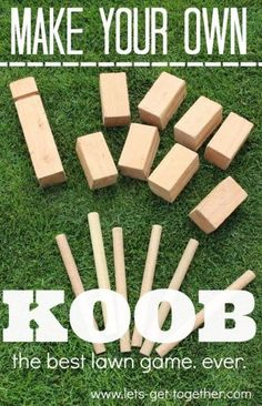 DIY KOOB from Let's Get Together - seriously the best outdoor game ever. Can be played with 2-12 people, ages 5 and up on any outdoor surface. Great game to make and give for gifts this Christmas! #diy #groupgames #gifting www.lets-get-together.com
