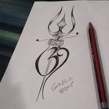 Bilderesultat for trishul tattoo