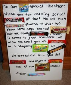 candy bar notes/card on Pinterest | Candy Cards, Teacher Appreciation ...