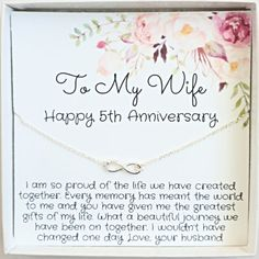 10th Wedding Anniversary, Anniversary Gifts For Wife, Grandma Gifts, Gifts For Mom, Meaningful Gifts, Meaningful Necklace, Bride And Groom Gifts, Infinity Necklace, Appreciation Gifts