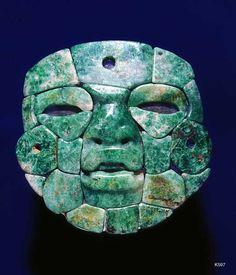 Guerrero / Olmec jade. height 12.7 cm. Mosaic mask.