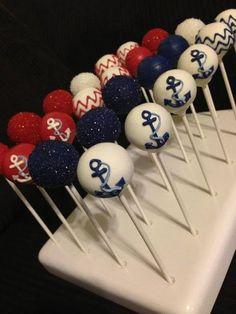 Anchors Away Cake Pops