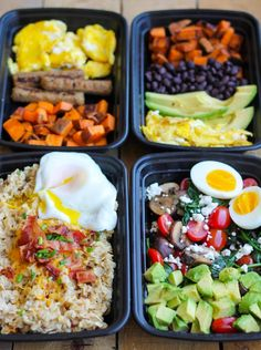 Make-Ahead Breakfast Meal Prep Bowls are quick, easy and healthy recipes to make for grab and go breakfasts all week! Breakfast! It's the most important meal of the day. And since mornings suck … breakfast should be a meal that makes your taste buds happy and gives you fuel to crush the day. Right? Right....