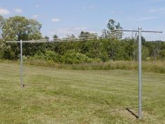 T-Post Clothesline by MM. $235.00. This clothesline is built to hold heavy loads! If you want strength and the room to hang comforters, blankets, sheets, sleeping bags etc, then this is the clothesline for you. Heavy-Duty steel construction.