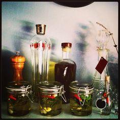 Infused olive oils, vinegar and vodka