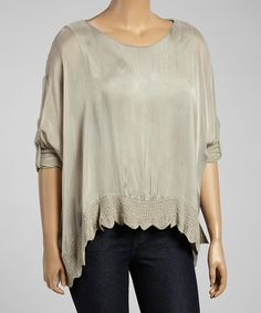 Love this Taupe Sweetheart Silk-Blend Sidetail Tunic & Scarf on #zulily! #zulilyfinds