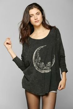 Urban Outfitters Project Social T Foiled Moon Dolman Tee