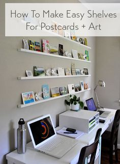 How to make shelves for post cards and art ledges (the easy way)