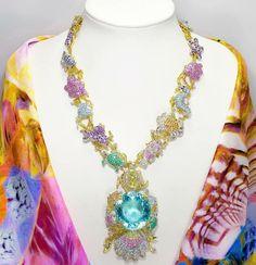 The Ethereal Carolina Divine Paraiba necklace
