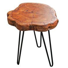 Sari Unique Wood Stump Rustic Surface End Table by Union Rustic Log End Tables, End Table Sets, Small Tables, Side Tables, Tree Stump Table, Tree Stump Furniture, Wood Furniture, Furniture Ideas, Modern Furniture